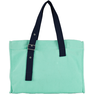 Others Solid - Big Cotton Beach Bag Solid, Mint back