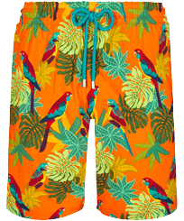 Men Long classic Printed - Men Swim Trunks Long 1998 Les Perroquets, Apricot front