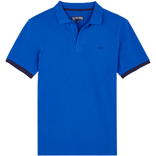 Men Others Solid - Men Cotton Polo Shirt Solid, Royal blue front