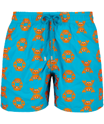 Men Classic Embroidered - Men Swim Trunks Embroidered Crabs - Limited Edition, Curacao front