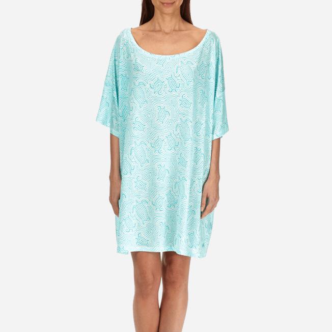 Vilebrequin - Robe T-shirt Oversize en Jersey Tencel Femme Tortues Hypnotiques - 5