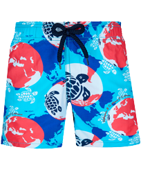 Boys Others Printed - Boys Swimwear 360 printed Mappemonde Dots, Light azure front