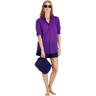 Others Solid - Solidsex Cotton Voile Light Shirt Solid, Plum supp4