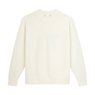 Men Others Solid - Men Crew Neck Sweater VBQ71, Off white back