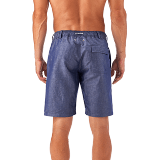 Men Shorts Solid - Solid Straight bermuda, Jeans blue supp3