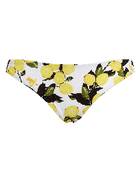 Women Classic brief Printed - Women Bikini Bottom Brief Lemons, White front