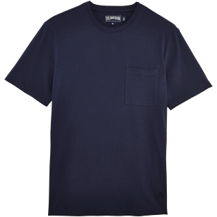 Men Others Solid - Men Pima Cotton Jersey T-shirt Solid, Navy front