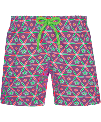 男童 Others 印制 - Boys Swimwear Indian Ceramic, Pink berries front