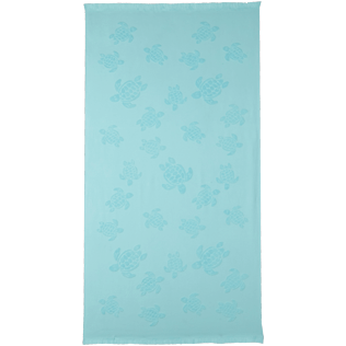 Andere Uni - Turtles Jacquard-Decke aus Frottee, Wasser front