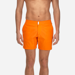 Men Flat belts Solid - Men Flat Belt Stretch swimtrunks Solid, Kumquat supp1
