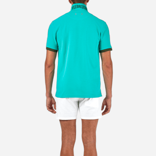 Men Polos Solid - Solid Cotton pique polo, Veronese green supp2