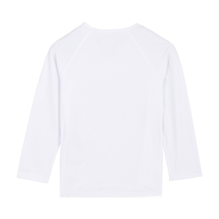 Others Printed - Kids Long Sleeves Rashguard Solid, White back