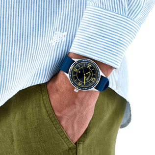 Others Solid - Stripped 43mm Watch, Navy back