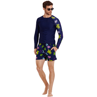 Men Stretch classic Printed - Men Swimwear Stretch Ronde des tortues, Navy supp2