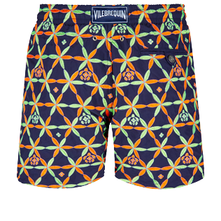 Men Classic / Moorea Embroidered - Men Swim Trunks Embroidered Indian Ceramic - Limited Edition, Sapphire back