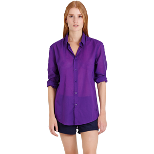 Others Solid - Solidsex Cotton Voile Light Shirt Solid, Plum supp5