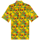 Men Others Printed - Men Bowling Shirt Cotton and Linen Go Bananas, Curry back