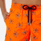 Men Embroidered Embroidered - Men Ultra-Light and packable embroidered Swimwear Palm Beach - Limited Edition, Neon orange supp1