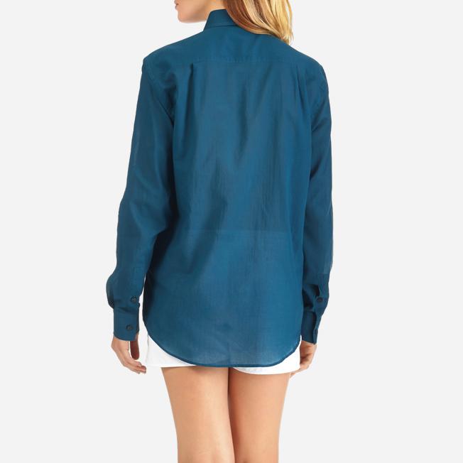 Vilebrequin - Camisa en gasa de algodón con estampado liso unisex - 11