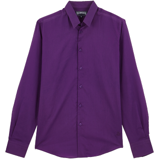 Others Solid - Solidsex Cotton Voile Light Shirt Solid, Plum front