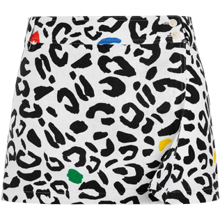 Women Others Printed - Women wrap skirt Leopard - Vilebrequin x JCC+ - Limited Edition, White front