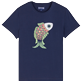 Men Others Embroidered - Men Cotton T-Shirt embroidered pattern, Navy front