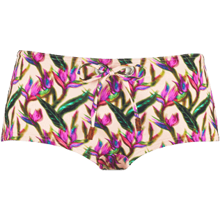 Women Bottoms Printed - Women Shortie Bikini Bottom Mini Paradise 3D, Nude front