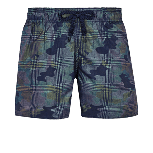 Boys Others Printed - Boys Swim Trunks Stretch Prince de Galles, Navy front