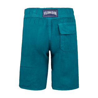 Boys Others Solid - Boys Linen Bermuda Shorts Solid, Pine wood back