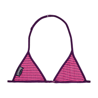Girls Others Graphic - Girls Bikini Top in Terry Cloth Striped, Amethyst back