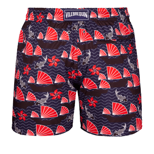 Men Ultra-light classique Printed - Men Ultra-Light and packable swimtrunks Hong Kong, Navy back