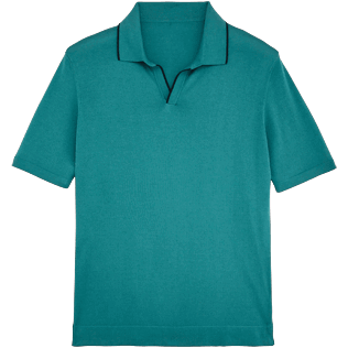 Men Polos Solid - Short sleeve polo sweater, Peacock blue front