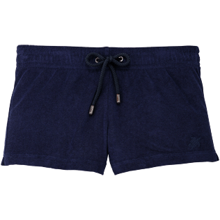 Women Others Solid - Terry Shortie, Navy front