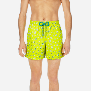 Men Classic / Moorea Embroidered - Men Swimtrunks Embroidered Micro ronde des tortues - Limited Edition, Chartreuse supp1