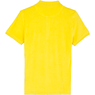 Men Others Solid - Men Terry Cloth Polo Shirt Solid, Citron back