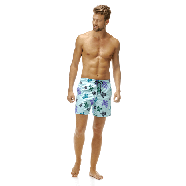 Vilebrequin - Maillot de bain Mistral Broderie Tortues Multicolores All Over - 3
