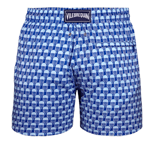 Men Ultra-light classique Printed - Men Ultra-Light and packable Swimwear Istanbul, Sea blue back