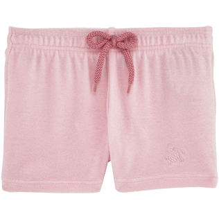 Filles Shortys Uni - Shorty Fille en Eponge Uni, Pivoine front