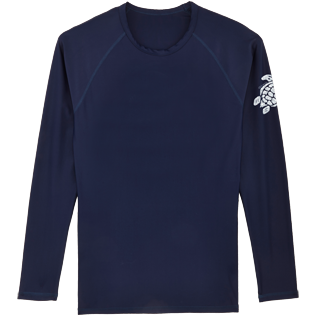 Others Printed - Unisex Long Sleeves Rashguards Solid, Navy front