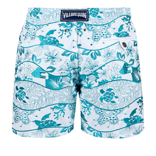 Men Embroidered Embroidered - Men Swimtrunks Embroidered Vague Heritage - Limited Edition, White back