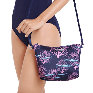 Others Printed - Beach Shoulder Bag Coral & Fish, Navy supp1