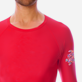 Others Printed - Unisex Long Sleeves Rashguards Solid, Red polish supp1