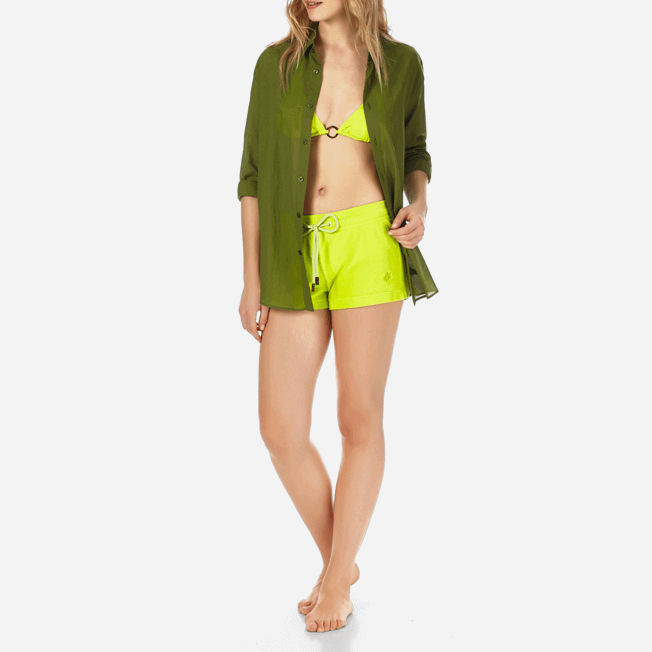 Vilebrequin - Pantalón corto en tejido terry liso para mujer - 7