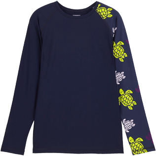 Men Others Printed - Men Rashguard Ronde des tortues, Navy front