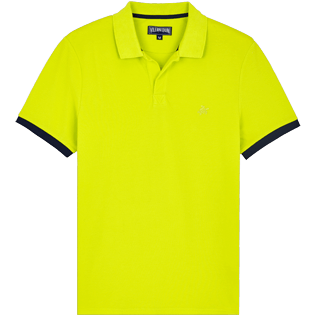 Men Others Solid - Men Cotton Polo Shirt Solid, Chartreuse front