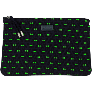 Others Printed - Zipped Beach Pouch Crabs Glow in the Dark, Midnight blue frontworn
