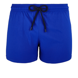 Men Short classic Solid - Men Short and Fitted Stretch Swimwear Solid, Neptune blue front