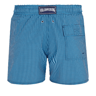 Men Stretch classic Graphic - Men Swim Trunks Stretch Carreaux, Swimming pool back