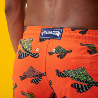 Uomo Classico stretch Stampato - Men Stretch Swimwear Turtle Swim, Nespola supp3