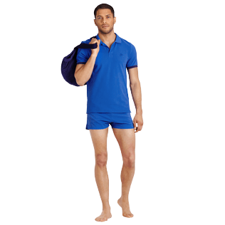 Men Others Solid - Men Cotton Polo Shirt Solid, Royal blue supp2